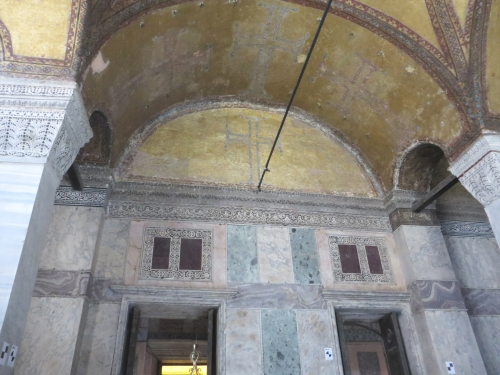 Removed decoration in the arcade vaulting of the Ayasofya Musezi, Istanbul