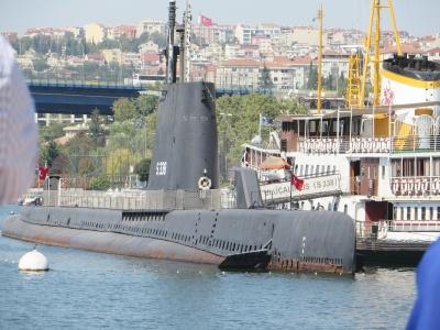 Museum submarine in Istanbul