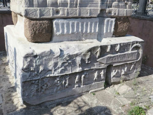 Lower registers of the base of the Obelisk of Theodosius, Istanbul