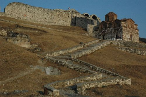 Entrance to the citadel of Berat, in modern Albania, from Wikimedia Commons