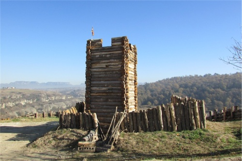 The reconstructed watchtower at l'Esquerda, Roda de Ter, Catalunya