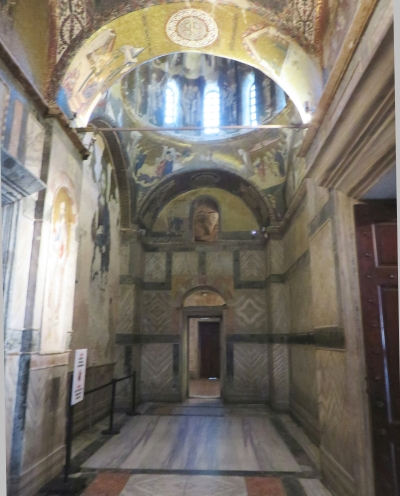 View towards the south end of the inner narthex of the Chora Museum, Istanbul