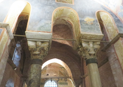 Internal structure and ormanent in the Chora Museum, Istanbul