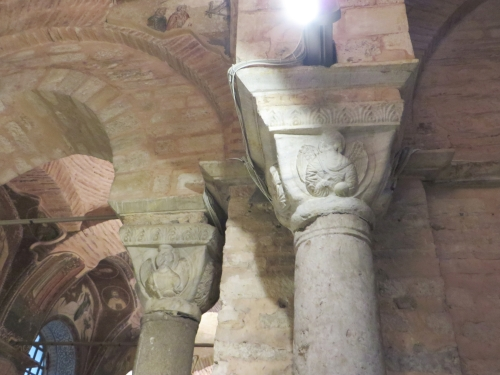 Carved capitals in the Chora Museum, Istanbul