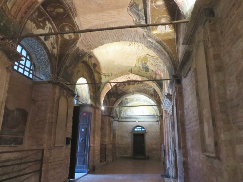 North end of the outer narthex of the Chora Museum, Istanbul
