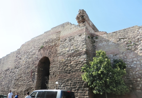 Lower storey of a gate tower on the inner Byzantine land walls, Istanbul