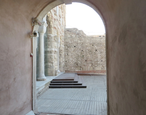 Opening into a private courtyard built between inner and outer Byzantine land walls, Istanbul