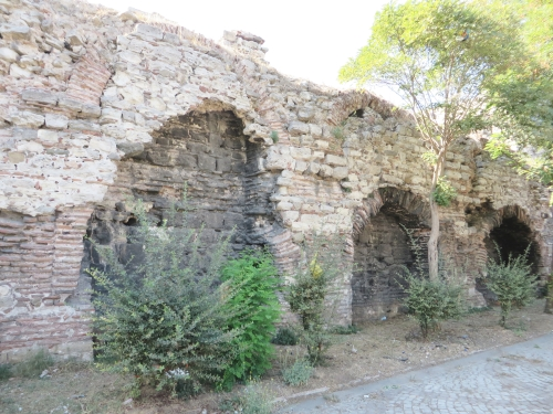 Inner side of the outer Byzantine land wall, Istanbul