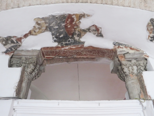 Byzantine sculpture and fresco remains in the Kalenderhane Camii, Istanbul