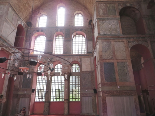 Interior of the Kalenderhane Camii, Istanbul, facing the south wall