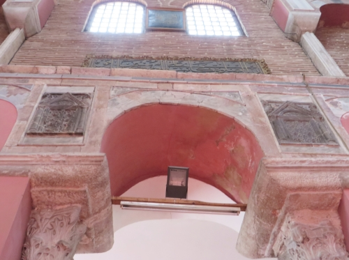 Byzantine capitals and sculture panels and Ottoman epigraphy in the Kalenderhane Camii, Istanbul