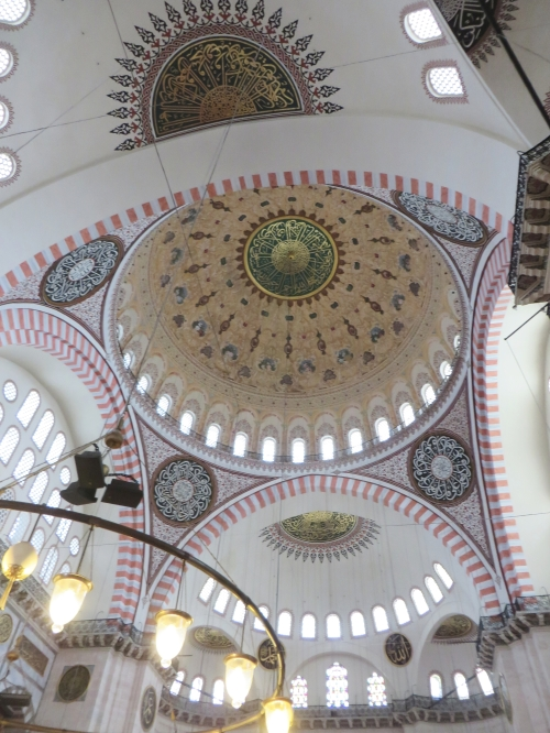 Interior of the dome of the Sulemaniye Camii, Istanbul