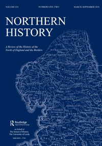Cover of a recent issue of the journal Northern History