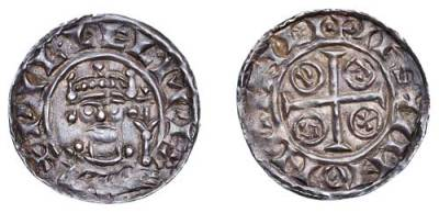 Silver penny of William I of England struck by Æstan at Winchester between 1066 and 1087