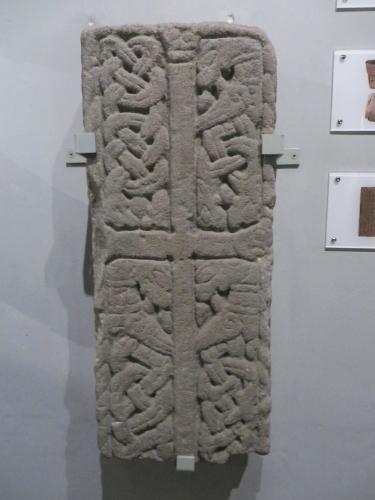 Anglian or Viking-era cross slab in York Minster Museum