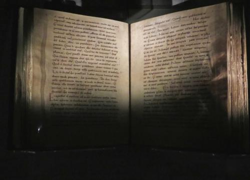The York Gospels, open on Matthew Chapter 9