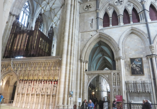 Combination of architectures at the east end of the nave of York Minster
