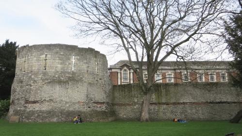 The Roman Multangular Tower on York's Roman wall