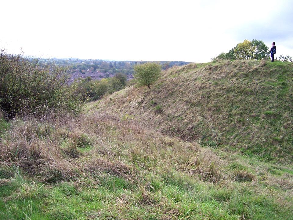 Motte of the erstwhile Beaudesert Castle in Henley-in-Arden