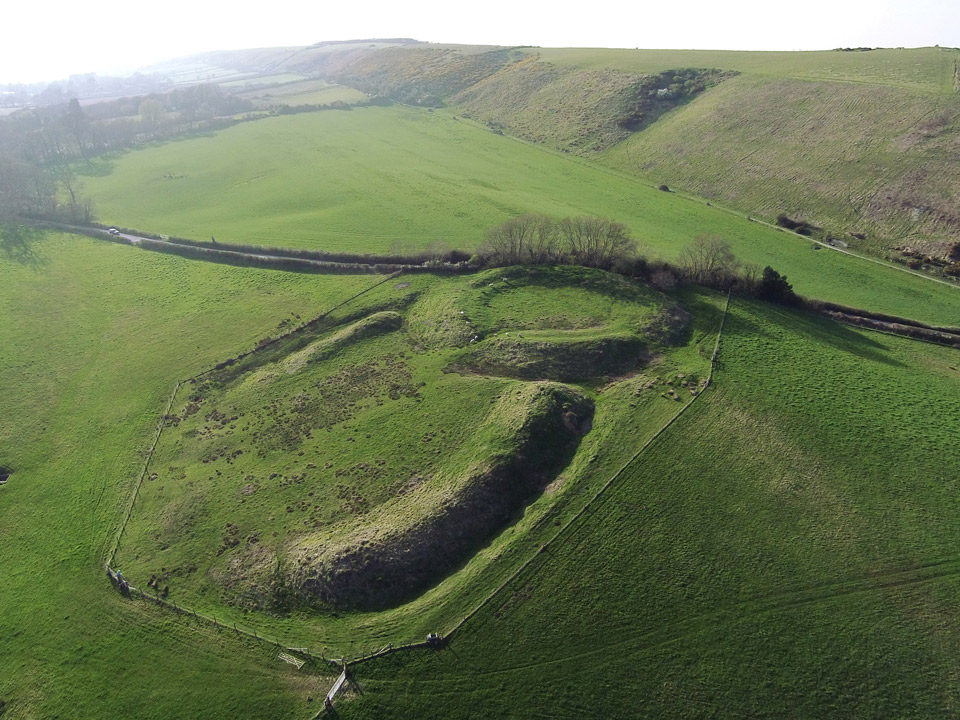 The Rings earthwork at Corfe Castle