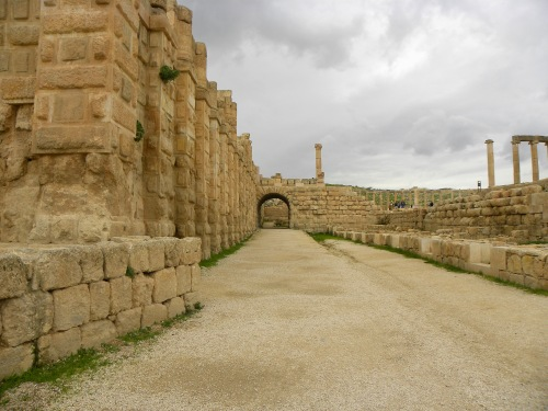 Ruins of the East Souq at Jerash