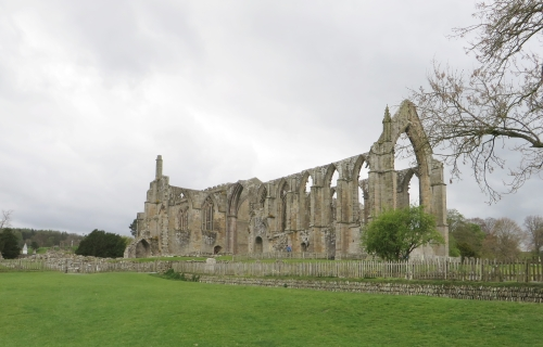 Approach to Bolton Abbey Priory ruins