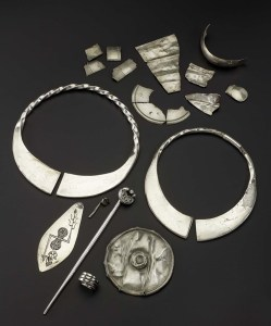 A selection of objects from the Norrie's Law Hoard, National Museum of Scotland, Edinburgh