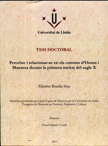 Cover of Elisabet Bonilla Sitja's doctoral thesis