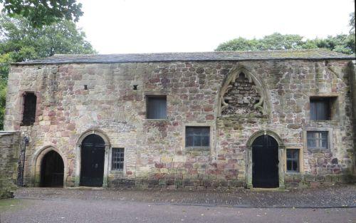 South side of the erstwhile chapel of Saint John the Evangelist, Skipton Castle