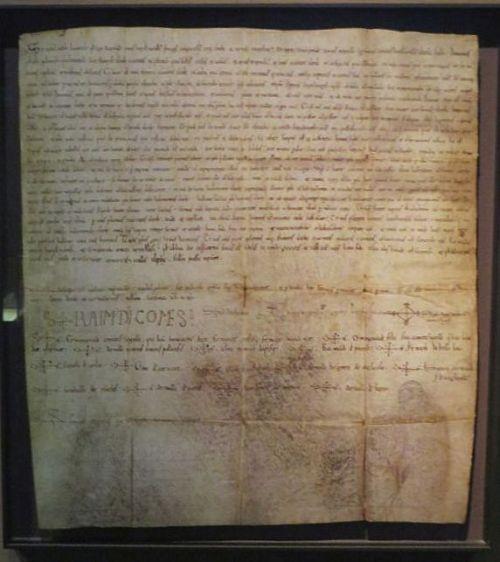Charter of Count-Marquis Ramon Berenguer IV of Barcelona, lord of Aragón, in the Museu de Lleida
