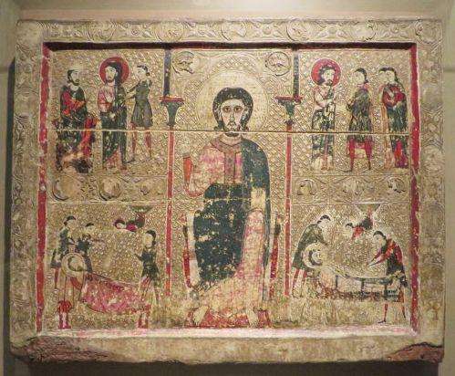 Altar frontal from Sant Vicenç de Tresserra in the Museu de Lleida