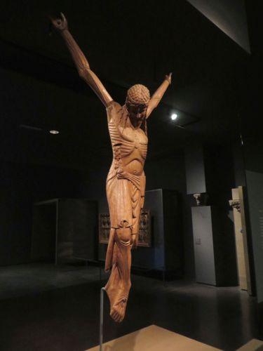 Medieval wooden crucifix in the Museu de Lleida