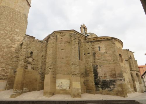 Apsidal chapels of Sant Llorenç de Lleida, from the outside
