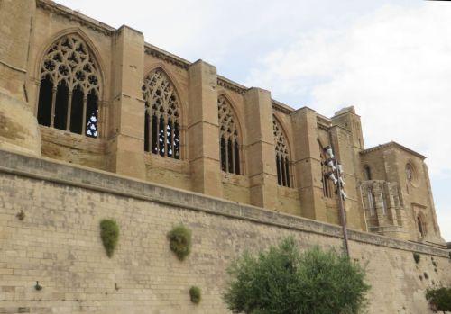 Windows in the nave of the Seu Vella de Lleida