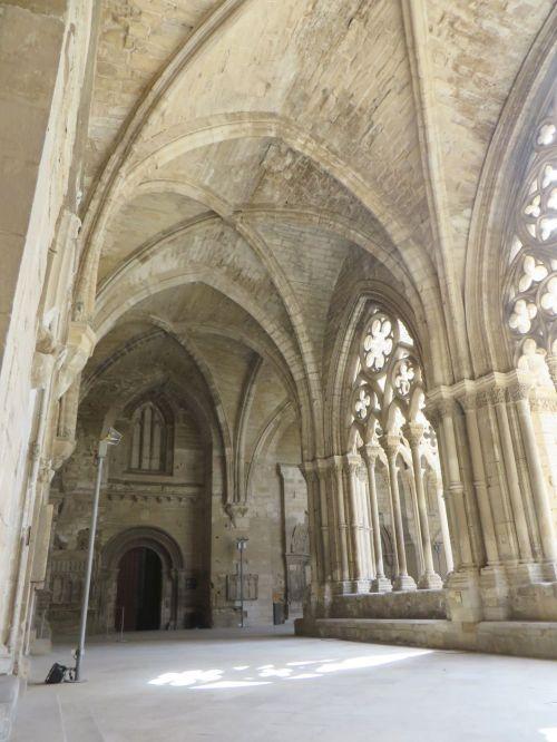 Cloister vaulting in the Seu Vella de Lleida