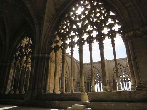 Window tracery in the cloister of la Seu Vella de Lleida