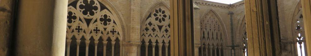 View across the cloister of la Seu Vella de Lleida