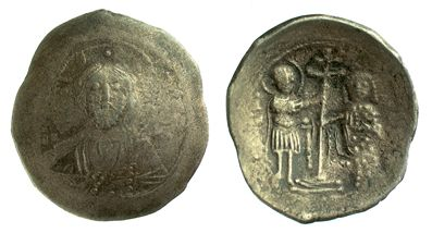 Base-silver trachy of Emperor Alexios I Komnenos struck at Thessaloniki in 1081-1092, Barber Institute of Fine Arts B5532