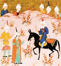 Safavid miniature illustration of Ibn al-Arabī with students