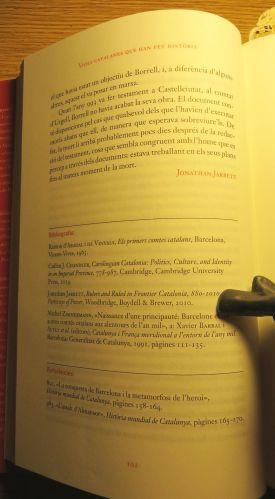 Author's name in Jonathan Jarrett, 'El comte marquès Borrell II de Barcelona: arquitecte involuntari de Catalunya?', trans. Mònica Molera i Jordà, in Borja de Riquer (ed.), Vides catalanes que han fet hist&oagrave;ria (Barcelona 2020), pp. 95–102