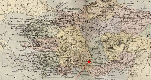 Map of the location of Isauria in Asia Minor