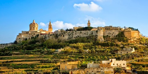 The citadel of Mdina, Malta