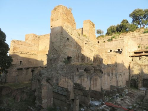 The ruins of the Horrea Agrippiana, in Rome