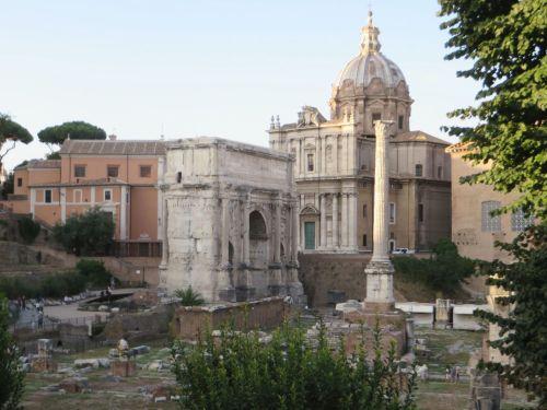 View into the Forum Romanum