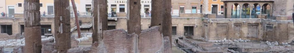 Ruins of two of the temples in the Largo di Torre Argentina, Rome
