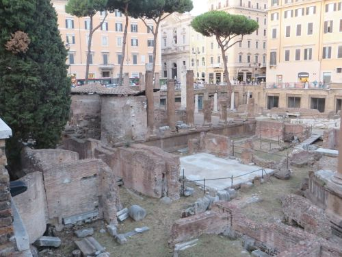 View of the Largo di Torre Argentina, Rome