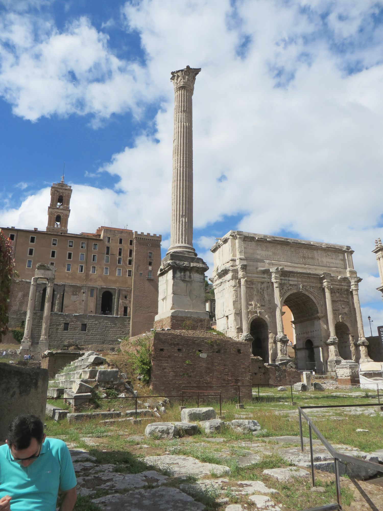 The Column of Phocas in the Foro Romano