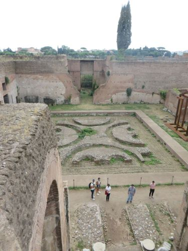 The courtyard of the Domus Flavia, in the imperial palace complex on the Palatine Hill, Rome