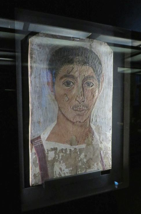 Encaustic portrait of an Egyptian man in the Museo Vaticano