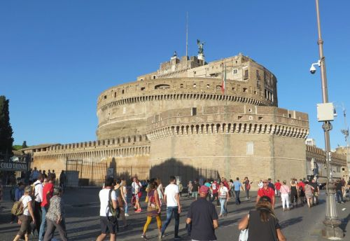 Exterior view of the Castel Sant'Angelo, Rome
